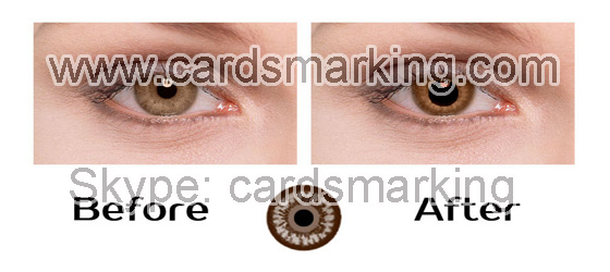 Infrared Contact Lenses Poker For Brown Eyes