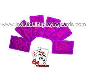 Invisible ink marked cards